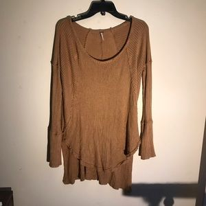 Free People Gold Henley, Size S